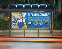 Cleaning Services Billboard Template Vol.4