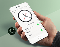 Alarm Clock - Day39 My UI/UX Free SketchApp Challege