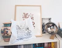 Linogravure sur sac