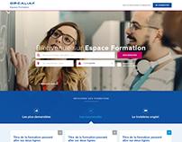 Webdesign - Espace Formation Opcalia