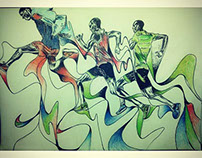 Nike running spring free 2015 drawing part 1
