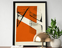 Geometric abstract - various monoprint SCREENPRINTS