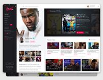 Kevin Hart's Laugh Out Loud Network - UI/UX Concept