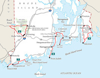Backroads series of maps illustrate driving guides