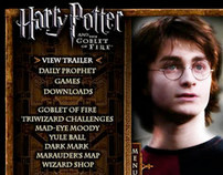 Theatrical Web Design :: Harry Potter