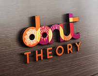 Donut Theory- Logo for a Donut Cafe
