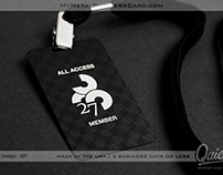 Black Metal VIP Event Pass with Etching & UV Printing