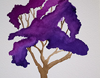 Watercolor Trees v.2