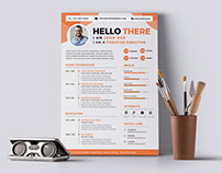 Free Designer Resume Template with Attractive Design