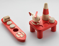 OFFSHORE, set of wooden toys