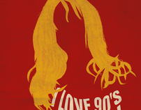 Design Poster of Love 90's Party @ Clube Ferroviário