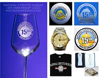 National Corvette Museum's 15th Anniversary logo