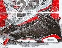Air Jordan 6 Black Infrared Release Artwork