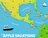 Apple Vacations / Entertainment Weekly Map Ad