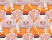 Graphic///Digital Art. Year of the Earth Pig