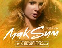 MakSим flyer concert in Moscow