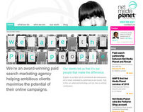 Net Media Planet website redesign 2010