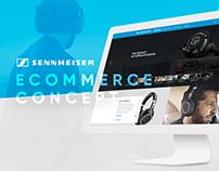Sennheiser Ecommerce Redesign Concept - UI/UX