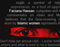 Official Poster for Farzana Hassan's lecture at UBC