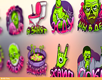 Create a set of stickers