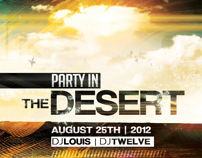 Party in the Desert | Flyer Template + Facebook Cover