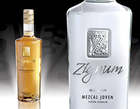Zignum Mezcal Bottle Design