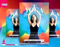 Yoga Flyer Free Psd