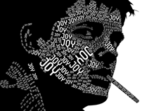 Ilustracion tipografica joy division