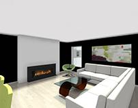 Contemporary Open Concept Living Area