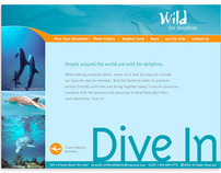 Wild for Dolphins website design