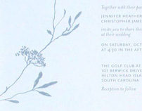 Jennifer + Chris wedding invitation