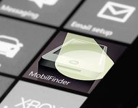 MobilFinder app GUI