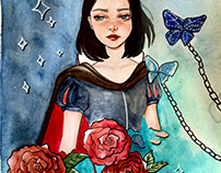 Watercolor Snow White