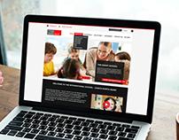 International School Web design Homepage