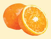 Polygonal art- Orange