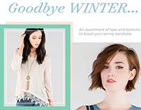 Francesca's - Goodbye Winter Email