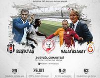 Galatasaray - Besiktas Poster