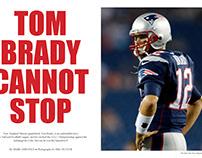 Tom Brady Magazine Article Layout