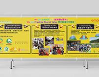Event Backdrop Design for NGO emoji Run Event 2019