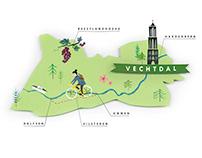 illustrated map Plus magazine
