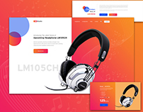 Headphone Landing PSD