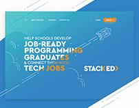 StackEd Learning Management System | Website Design