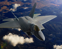 3D F22 Raptor Jet animation demo