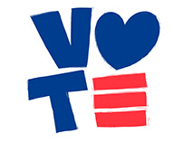 Vote with Love | logo and poster design