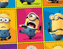 Minions Fruit Snacks Back Panels
