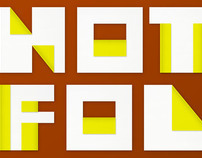 Folded Square Font
