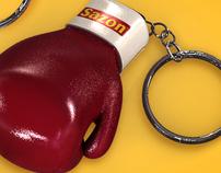3D Glove box key chain