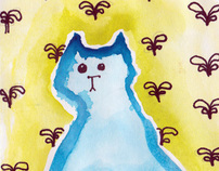 Watercolor Cat Series