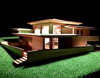 Hillside house with inner garden