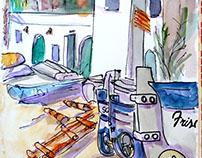 Sketching Cala Canyelles 3